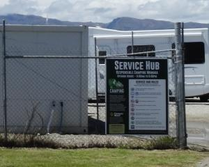 The service hub in Ballantyne Rd, Wanaka, caters for certified, self-contained camper vans. Photo...