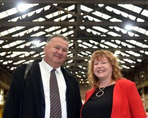 Regional Economic Development Minister Shane Jones with Dunedin South MP Clare Curran after the...