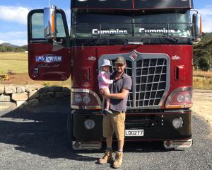 Nic McEwan with daughter Polly (2). Versatility in the way his trucks can be configured has been...