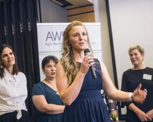Gimmerburn farmer and vet Rebecca Smith shares her insights at the Agri Women's Development Trust...