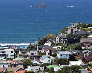 Median house price rose 8.2% on a year ago in Otago; pictured, the Dunedin suburb of St Clair,...
