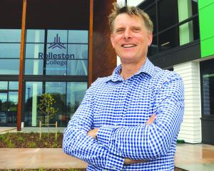 Steve Saville has resigned as principal of Rolleston College. Photo: Geoff Sloan