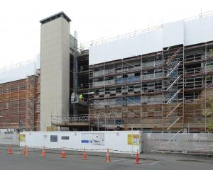 The refurbishment of the old University of Otago school of dentistry building will be ongoing...