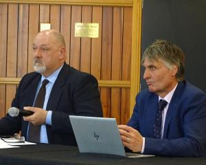 Queenstown Lakes District Council transport strategy manager Tony Pickard and property and...
