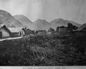 Early morning at a pah, Tawatu, on the Wanganui River. — Otago Witness,  4.11.1919. COPIES OF...