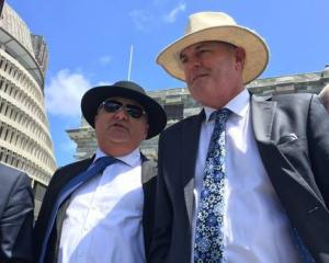 Regional Economic Development Minister Shane Jones (left) with National's agricultural spokesman...