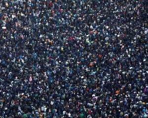 Thousands of people attend a Human Rights Day march in Hong Kong. Photo: Reuters