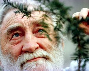 David Bellamy views a clipping from a 1000-year-old yew tree as he launches the Yew tree...