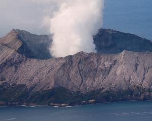The  Whakaari/ White Island volcano remains volatile. Photo: Reuters