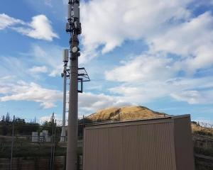 A 5G-enabled site above the Frankton-Ladies Mile highway. Photo: Mountain Scene