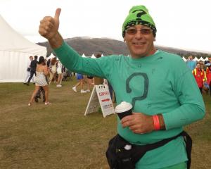 Wanaka's Michael Willetts was one of the more colourful characters at the Cromwell races...