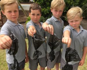 St Gerard's School pupils (from left) Arn Cuthbertson, Freddie Ryan, George Donaldson and Quinn...