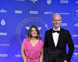 Kiwi riders Courtney Duncan and Hamish MacDonald on the red carpet at the glittering Monte Carlo...