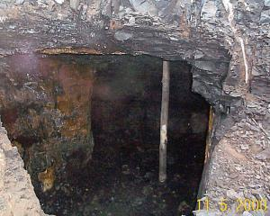 Old mine tunnels during construction of the Green Island motorway. Photo: Fulton Hogan.