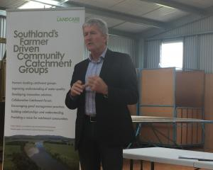 Damien O'Connor at the announcement in Southland today. Photo: Luisa Girao
