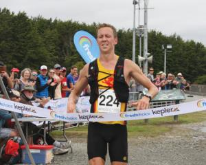IMG 3552: Daniel Jones of Wellington, wins the 2018 Fresh Choice Kepler Challenge at Te Anau on...