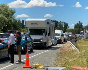 Traffic remained backed up on Inland Scenic Route 72 this afternoon. Photo: Supplied