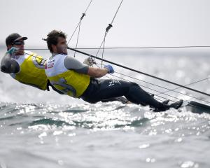 Peter Burling and Blair Tuke have reclaimed their fifth world championship title. Photo: Getty...