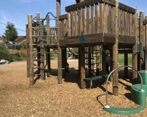 The toddler fell from a fort at a North Canterbury playground. Stock photo (not the accident site...