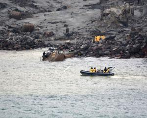 The recovery mission under way on Friday. Photo by New Zealand Defence Force via Getty Images