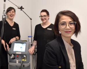Groom Laser and Skin Clinic staff (from left) Julia Mulqueen, Serena Harbott, Erin van de Water...