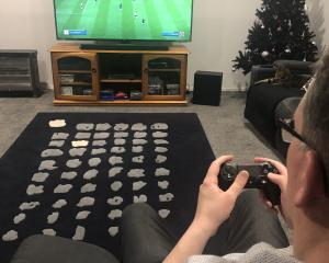 Hayden Meikle plays Fifa, more than a game. Photo: Saskia Meikle