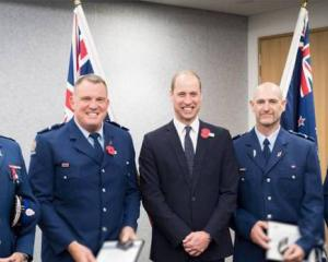 Police Commissioner Mike Bush, Senior Constable Jim Manning, HRH Prince William, Senior Constable...