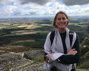 Former North Otago woman Rebecca Clayton pictured atop a hill in the Bennachie range, in the...