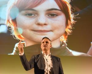 Climate Change Minister James Shaw addresses a meeting in Dunedin on plans for a government-wide...