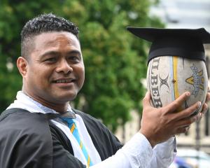 Jekope Maiono (40), who has fostered the development of sevens in Dunedin, prepares to graduate...