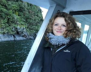 Kelsey Waghorn has been a tour guide with White Island Tours for five years. Photo: Givealitte