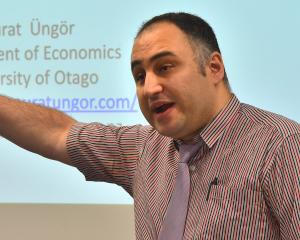 Murat Ungor at the University of Otago campus yesterday. Photo: Gregor Richardson