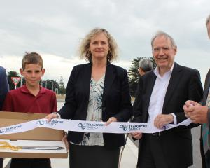 Ready to cut the ribbon for the opening of the Edendale bypass realignment project yesterday are ...