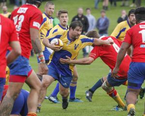 Cameron Schultz, who died in an accident inland from Oamaru on Wednesday, in action for Valley in...