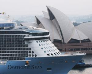 Royal Carribbean cruise ship 'Ovation of the Seas' returns to Circular Quay in Sydney. Photo:...