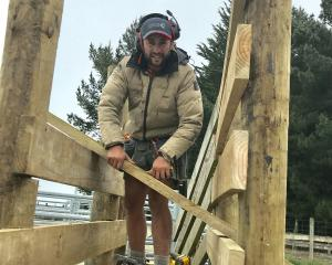 Nick Fencing contractor Nick Terry said it's getting harder to find good, keen workers. Photo:...