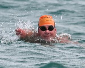 University of Otago student John Caughlin has St Clair Beach in sight as he nears the end of his...