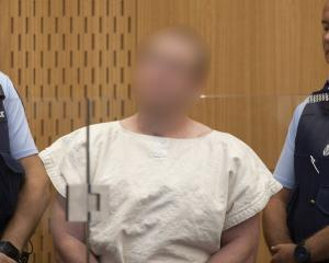 The alleged March 15 gunman in court. Photo: Mark Mitchell/NZH