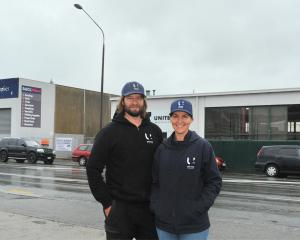 United Machinist owners Alex and Sarah Ramsay outside their expanded engineering site in Dunedin....