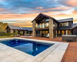 Steve Hansen's Prebbleton property includes a swimming pool, spa, media room, extensive outdoor...