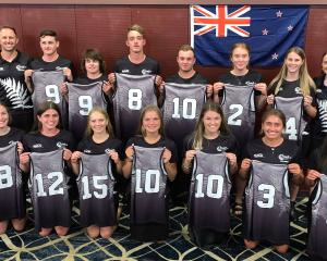 Touch players turning out for the NZ team in Australia this weekend are (back row, from left)...
