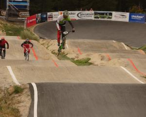 Jono Varty, of Christchurch, puts in some practice before the BMXNZ South Island Titles taking...