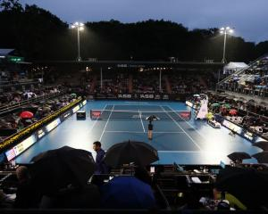 Rain limited play at yesterday's ASB Classic. Photo: Getty Images