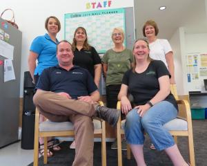 The Mid Canterbury early childhood and primary education research team included (back row, from...