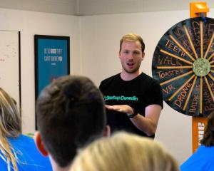 High school pupils take part in an Audacious workshop with Startup Dunedin's programme...