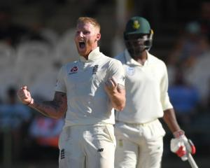 Ben Stokes celebrates a wicket during England's win over South Africa. Photo: Getty Images