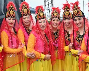 Dunedin Chinese Cultural and Arts Association members (from left) Yi Li, Annie Zhang, Hong Gao,...