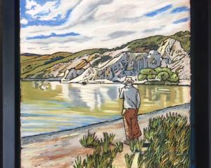 Contemplation, Blue Lake, St Bathans, by Melanie Eade