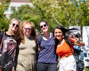 Students enjoying the festivities of O week