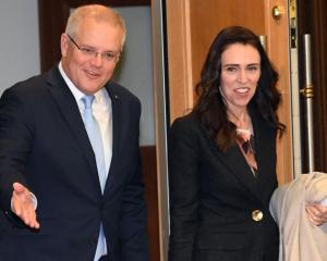 Scott Morrison and Jacinda Ardern. Photo: Getty Images